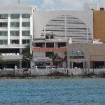 View of the hotel from the dive boat