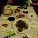 Peking duck and yummy eggplants