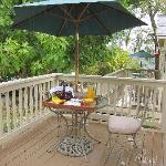 Private Porch where Breakfast is Delivered