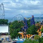 Cedar Point desde la Noria