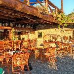 19. Villa Gokbel's outdoor restaurant and bar.