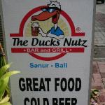 The Ducks Nutz sign