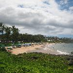 View of Wailea Beach from the beach walk