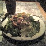 The HUGE side salad that came with my meal