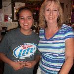 Servers Gayla (Bev's grand daughter) & Marla