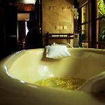 My favourite part of the villa (yes, more so than the private pool) was the huge tub and the com