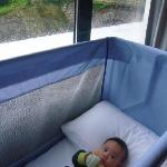 Keyaan's cot by the window was already placed there when we arrived.