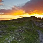 Sunset over Hadrians Wall