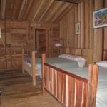 Amazing wood on inside of cabin.
