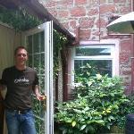 Accesso dalla camera alla veranda privata