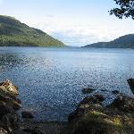 Altro punto di osservazione del Loch Lomond a nord di LUSS