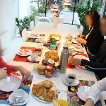 El desayuno... fantástico!!