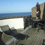 Large South facing balcony at Waves 34