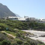 The hotel from the path to Hermanus