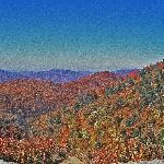 Blue Ridge mountains in the fall