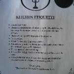 Notice in Kitchen - clean up yourself!!!