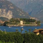 view of isola bella from our hotel patio using telephoto lens