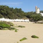 plage et cabines