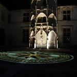 Bourges buildings illuminated at night
