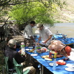 Preparing lunch on the river