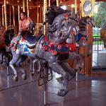 Hand carved flower horse, city park carousel