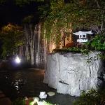 Hotel waterfall