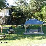 picnic area of the lodge