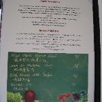organic farm menu