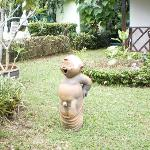 little statue in the garden