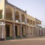 Reviewing stand where the Emir sits during the Durbar