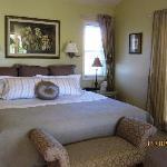 Plush comfortable bed