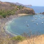 Playa Ocotal from the hilltop