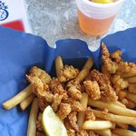 Clam strip basket at BG's