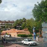 Hotel taken from the botanical gardens