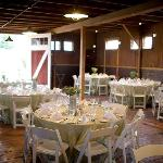 Wedding receptions in a barn!