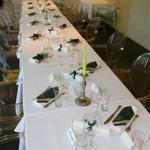 Tisch bei Feier
