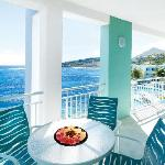 Furnished balconies in most rooms