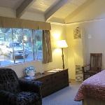 Front bedroom/living area of 2 bedroom queen cottage