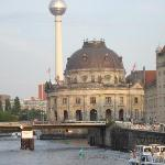 "View of ""museum island"" from hotel"