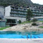 View of hotel from pool