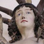 detail of a statue