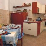 Cucina dove si serve il Breakfast la mattina dalle 7 alle 9:30 (orario da concordare con il gest