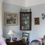Corner of room showing antiques
