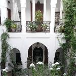 Riad inner courtyard - relaxed seating surrounds.