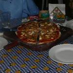 pizza de 4 quesos con ricotta...hummm