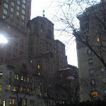 Vue du petit parc vers Broadway