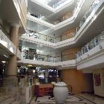 Hotel von Innen (sieht aus wie ein Schiff)
