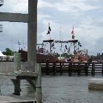 "As we sat dockside for lunch, we saw the ""Pirate Ship"""