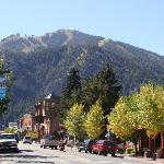 View of River Run Slopes from Downtown Ketchum, ID