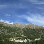 The hotel from the otherside of the valley in Pontresina